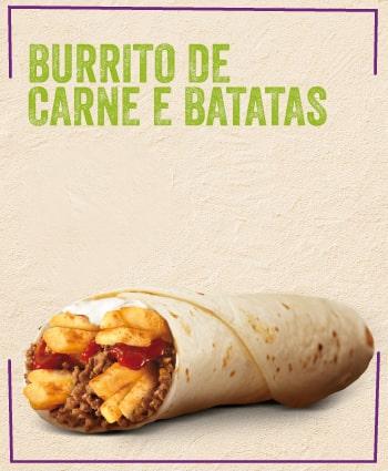 TACO BELL - Burrito de Carne e Batatas