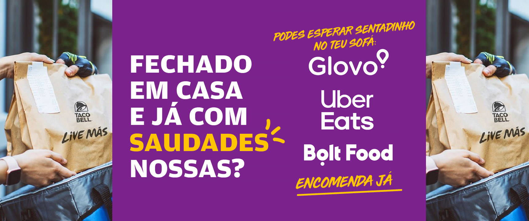 ENCOMENDA JÁ| Taco Bell Portugal